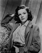 Judy Garland - Judy Garland portrait with jacket and stripped shirt +tograph Hi...