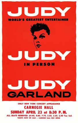 Judy In Person (Broadway) - 27 x 40 Poster - Style A