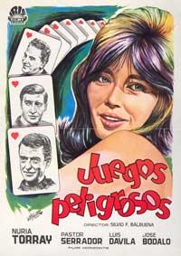Juegos peligrosos - 27 x 40 Movie Poster - Spanish Style A