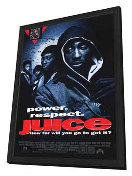Juice - 11 x 17 Movie Poster - Style A - in Deluxe Wood Frame