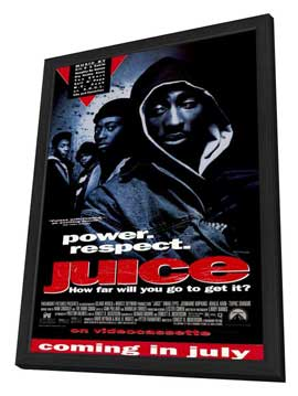 Juice - 11 x 17 Movie Poster - Style B - in Deluxe Wood Frame