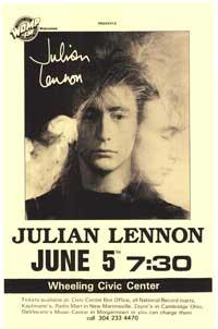 Julian Lennon - Music Poster - 11 x 17 - Style A