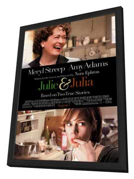 Julie and Julia - 11 x 17 Movie Poster - Style B - in Deluxe Wood Frame