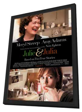 Julie and Julia - 27 x 40 Movie Poster - Style B - in Deluxe Wood Frame