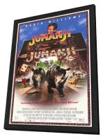 Jumanji - 11 x 17 Movie Poster - Style C - in Deluxe Wood Frame