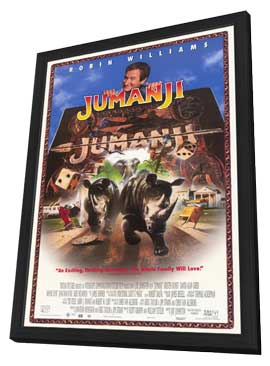 Jumanji - 27 x 40 Movie Poster - Style C - in Deluxe Wood Frame