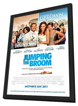 Jumping the Broom - 11 x 17 Movie Poster - Style B - in Deluxe Wood Frame