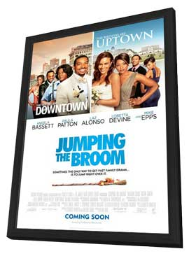 Jumping the Broom - 27 x 40 Movie Poster - Style A - in Deluxe Wood Frame