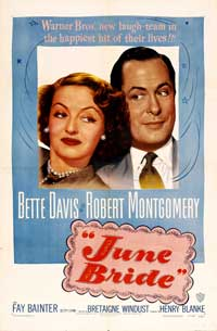 June Bride - 43 x 62 Movie Poster - Bus Shelter Style A