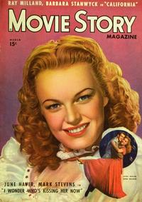 June Haver - 27 x 40 Movie Poster - Movie Story Magazine Cover 1940's