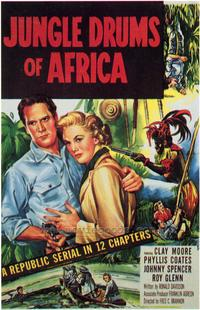 Jungle Drums of Africa - 27 x 40 Movie Poster - Style B