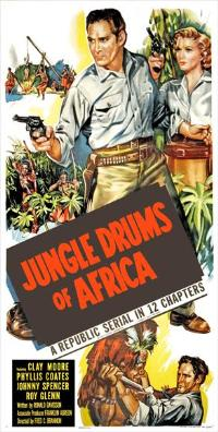 Jungle Drums of Africa - 14 x 36 Movie Poster - Insert Style A