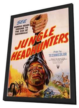 Jungle Headhunters - 11 x 17 Movie Poster - Style A - in Deluxe Wood Frame