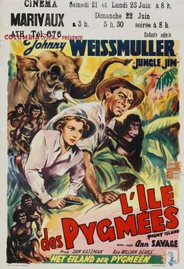 Jungle Jim in Pygmy Island - 11 x 17 Movie Poster - Belgian Style A