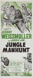 Jungle Manhunt - 13 x 30 Movie Poster - Australian Style A