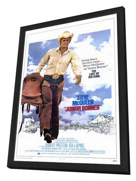 Junior Bonner - 11 x 17 Movie Poster - Style A - in Deluxe Wood Frame