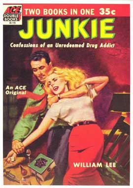 Junkie - 11 x 17 Retro Book Cover Poster