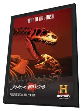 Jurassic Fight Club - 11 x 17 Movie Poster - Style A - in Deluxe Wood Frame