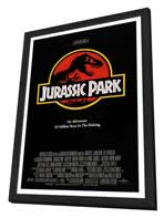 Jurassic Park - 27 x 40 Movie Poster - Style D - in Deluxe Wood Frame