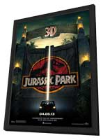 Jurassic Park - 27 x 40 Movie Poster - Style A - in Deluxe Wood Frame
