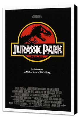 Jurassic Park - 27 x 40 Movie Poster - Style D - Museum Wrapped Canvas