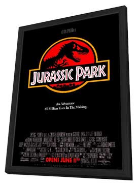 Jurassic Park - 11 x 17 Movie Poster - Style A - in Deluxe Wood Frame