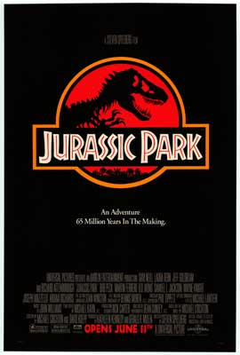 Jurassic Park - Movie Poster - Reproduction - 11 x 17 Style A