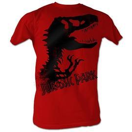 Jurassic Park - Dinosaur Silhouette Red T-Shirt