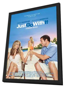 Just Go with It - 11 x 17 Movie Poster - Style B - in Deluxe Wood Frame