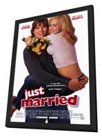 Just Married - 27 x 40 Movie Poster - Style A - in Deluxe Wood Frame