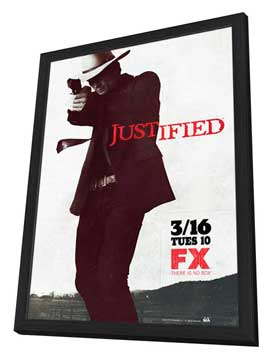 Justified - 11 x 17 TV Poster - Style A - in Deluxe Wood Frame