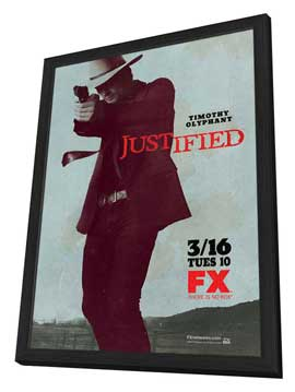 Justified - 11 x 17 TV Poster - Style B - in Deluxe Wood Frame
