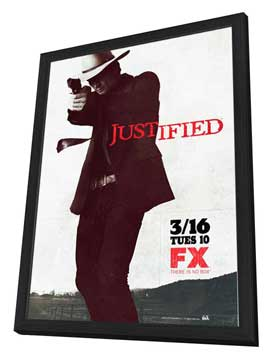 Justified - 27 x 40 TV Poster - Style A - in Deluxe Wood Frame