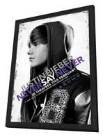 Justin Bieber: Never Say Never - 11 x 17 Movie Poster - Style A - in Deluxe Wood Frame