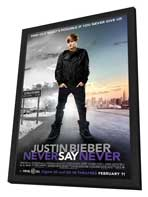Justin Bieber: Never Say Never - 11 x 17 Movie Poster - Style C - in Deluxe Wood Frame