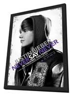 Justin Bieber: Never Say Never - 27 x 40 Movie Poster - Style B - in Deluxe Wood Frame