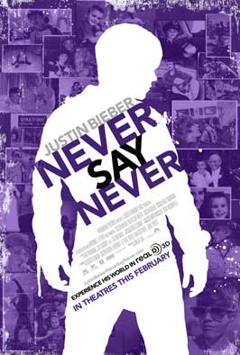 Justin Bieber: Never Say Never - 27 x 40 Movie Poster - Style A