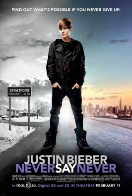 Justin Bieber: Never Say Never - 43 x 62 Movie Poster - Bus Shelter Style A