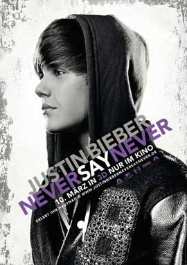 Justin Bieber: Never Say Never - 11 x 17 Movie Poster - German Style A