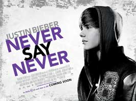 Justin Bieber: Never Say Never - 43 x 62 Movie Poster - Bus Shelter Style B