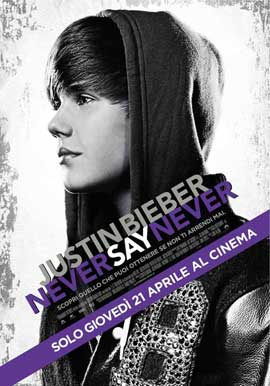 Justin Bieber: Never Say Never - 11 x 17 Movie Poster - Italian Style A