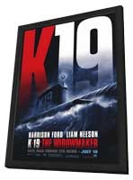 K-19: The Widowmaker - 27 x 40 Movie Poster - Style A - in Deluxe Wood Frame