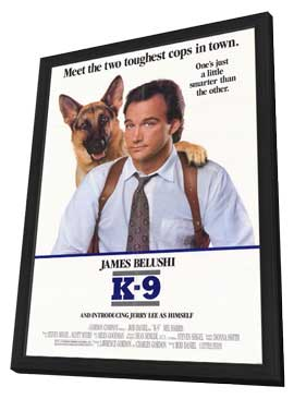 K-9 - 11 x 17 Movie Poster - Style A - in Deluxe Wood Frame