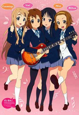 K-On! (TV) - 11 x 17 TV Poster - Japanese Style D