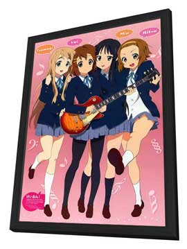 K-On! (TV) - 11 x 17 TV Poster - Japanese Style D - in Deluxe Wood Frame