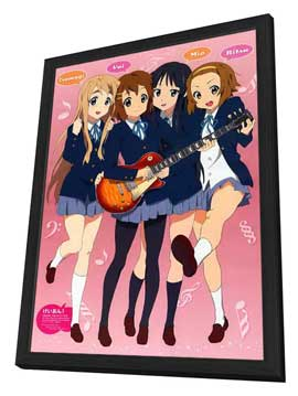 K-On! (TV) - 27 x 40 TV Poster - Japanese Style B - in Deluxe Wood Frame