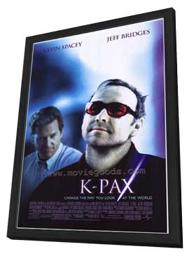 K-PAX - 27 x 40 Movie Poster - Style B - in Deluxe Wood Frame