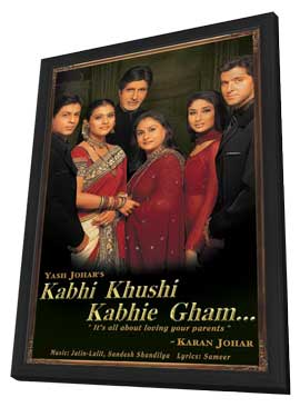 Kabhi Khushi Kabhie Gham... - 11 x 17 Movie Poster - Indian Style A - in Deluxe Wood Frame