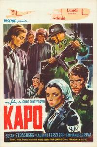 Kapo - 11 x 17 Movie Poster - Belgian Style A