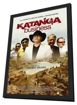 Katanga Business - 11 x 17 Movie Poster - French Style A - in Deluxe Wood Frame